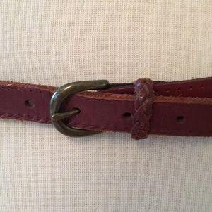 Beautiful brass and leather BoHo belt